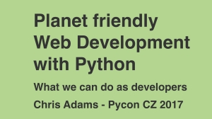 2017-06-09 Planet Friendly Web Development with Python - pics.001