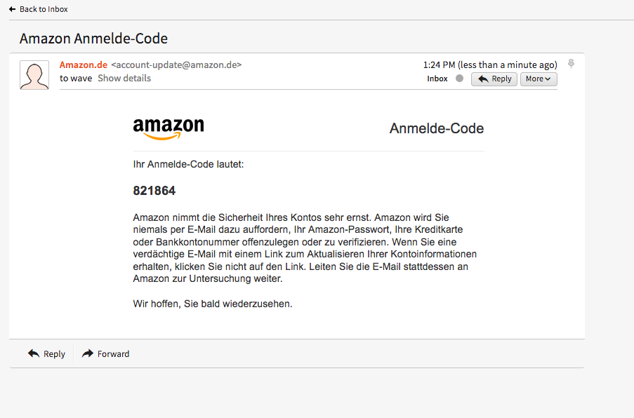 Amazon and passwordless login UX – Chris Adams's blog
