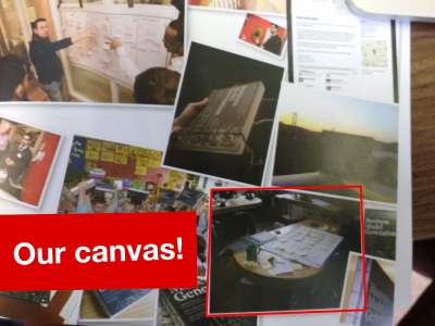 Our business model canvas ended up in the book! Well whatdya know!